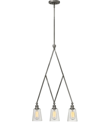 Polished Nickel Glass Island Lights
