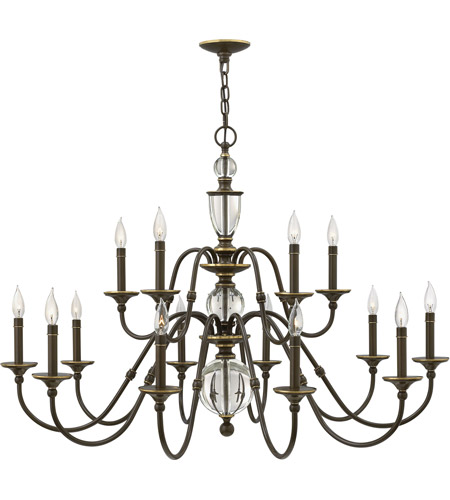 Hinkley 4959lz eleanor 15 light 44 inch light oiled bronze foyer hinkley 4959lz eleanor 15 light 44 inch light oiled bronze foyer chandelier ceiling light aloadofball Image collections