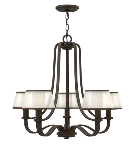 Hinkley 4965OB Prescott 5 Light 28 inch Olde Bronze Chandelier Ceiling Light photo