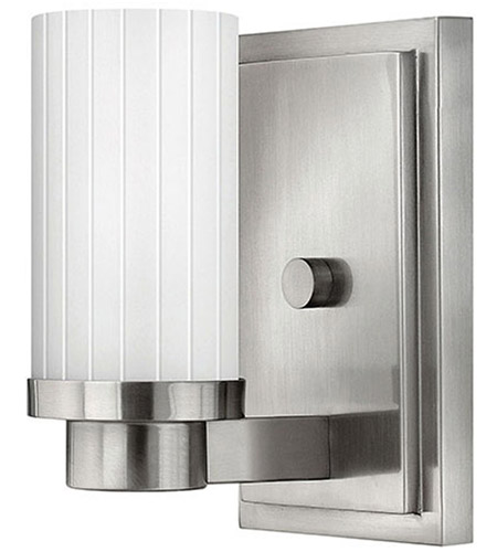 Hinkley Lighting Midtown 1 Light Sconce in Brushed Nickel 4970BN