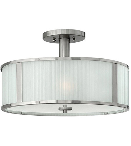 Hinkley 4971BN Midtown 3 Light 18 inch Brushed Nickel Foyer Semi-Flush Mount Ceiling Light photo