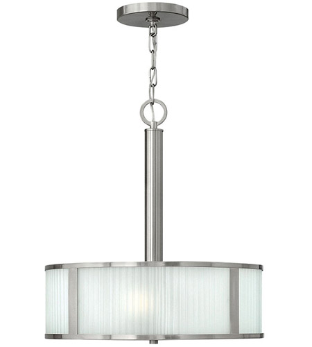 Hinkley Lighting Midtown 3 Light Chandelier in Brushed Nickel 4972BN