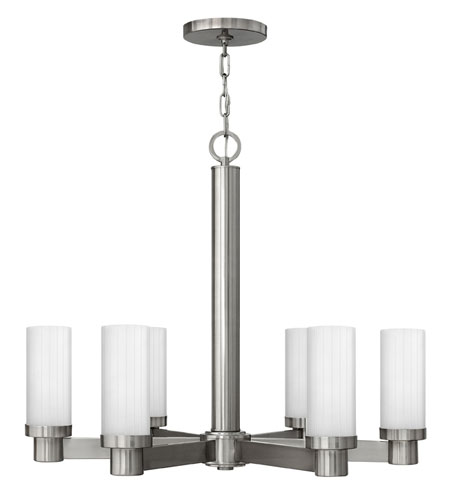 Hinkley Lighting Midtown 6 Light Chandelier in Brushed Nickel 4976BN