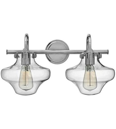 Bathroom Lighting Chrome hinkley 50021cm congress 2 light 20 inch chrome bath light wall