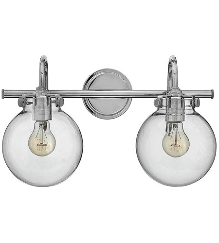 Hinkley 50024CM Congress 2 Light 19 inch Chrome Bath Light Wall Light photo