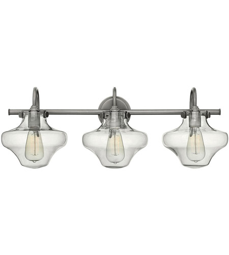 Hinkley Lighting Congress 3 Light Bath in Antique Nickel 50031AN