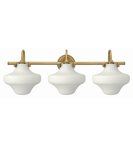 Hinkley 50035BC Congress 3 Light 30 inch Brushed Caramel Bath Wall Light, Retro Glass photo