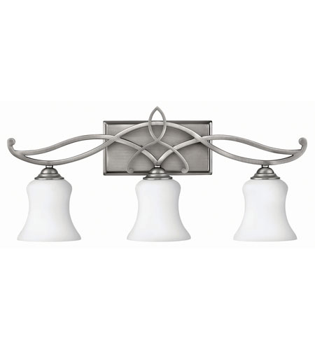 Hinkley 5003AN-GU24 Brooke 1 Light 24 inch Antique Nickel Bath Wall Light in 3, GU24, Etched Opal Glass photo