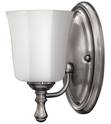 Hinkley 5010BN Shelly 1 Light 6 inch Brushed Nickel Bath Sconce Wall Light photo