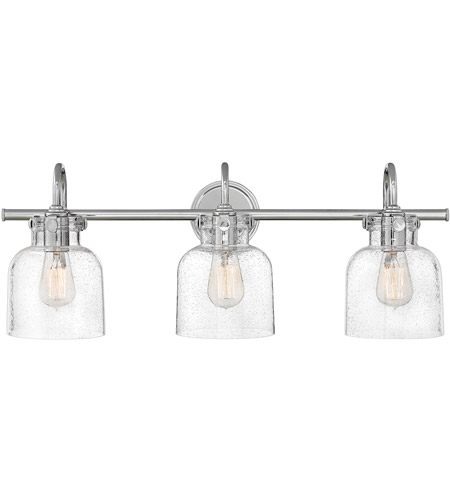 Hinkley 50123CM Congress 3 Light 30 inch Chrome Bath Light Wall Light photo
