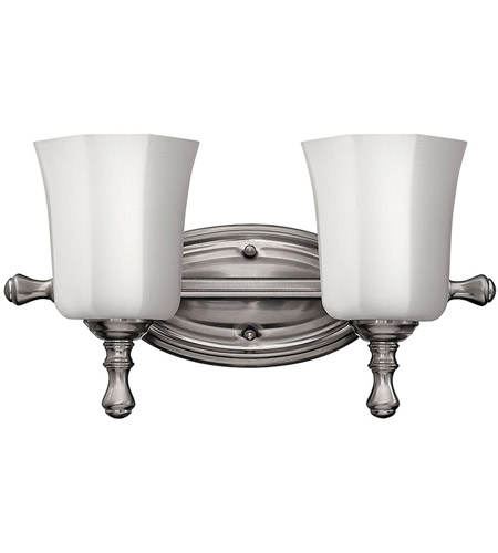 Hinkley Lighting Shelly 2 Light Bath Vanity in Brushed Nickel 5012BN photo
