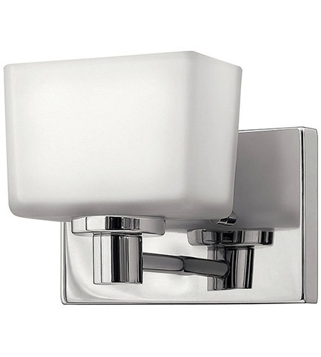 Hinkley 5020CM Taylor 1 Light 8 inch Chrome Bath Vanity Wall Light in Inside-Painted White,  Outside-Etched photo