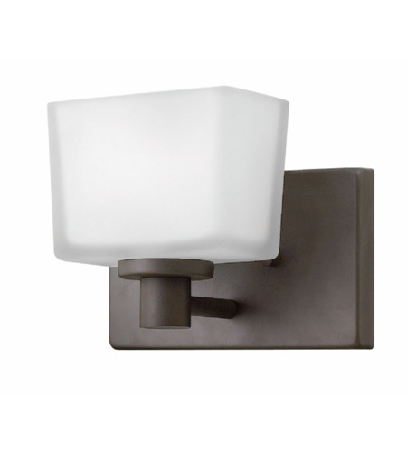 Hinkley Bathroom Wall Sconces : Hinkley 5020KZ-LED Taylor LED 8 inch Buckeye Bronze Bath Sconce Wall Light