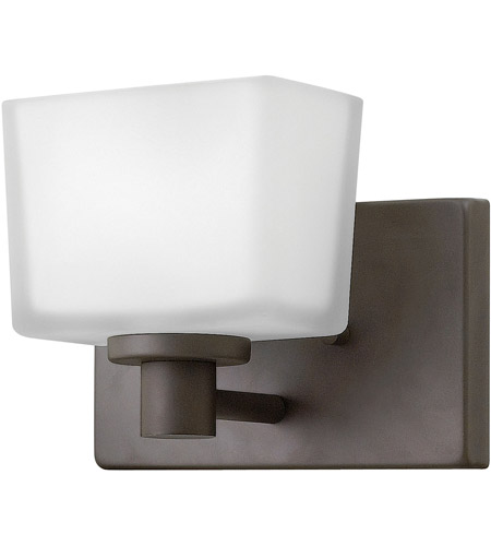 Hinkley 5020KZ Taylor 1 Light 8 inch Buckeye Bronze Bath Sconce Wall Light in G9, Etched White Glass photo