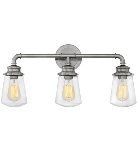 Hinkley 5033bn fritz 3 light 24 inch brushed nickel bath sconce wall hinkley 5033bn fritz 3 light 24 inch brushed nickel bath sconce wall light photo aloadofball Image collections