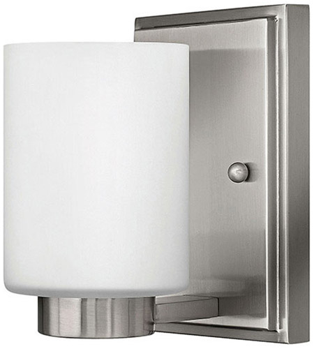 Hinkley 5050BN Miley 1 Light 5 inch Brushed Nickel Bath Vanity Wall Light in Etched Opal photo