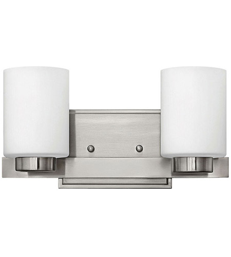 Hinkley 5052BN Miley 2 Light 13 inch Brushed Nickel Bath Vanity Wall Light in Etched Opal photo