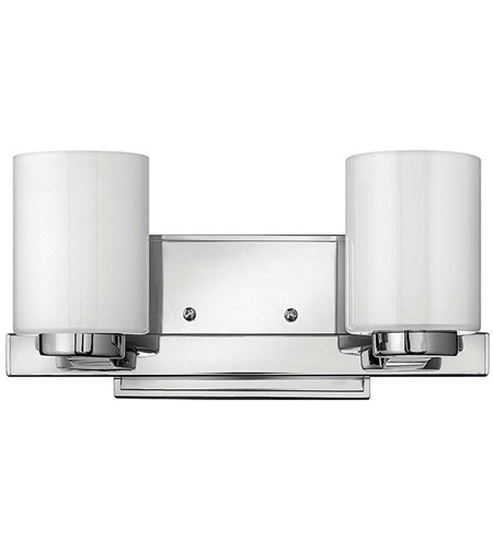 Hinkley 5052CM Miley 2 Light 13 inch Chrome Bath Vanity Wall Light in Inside-Painted White photo