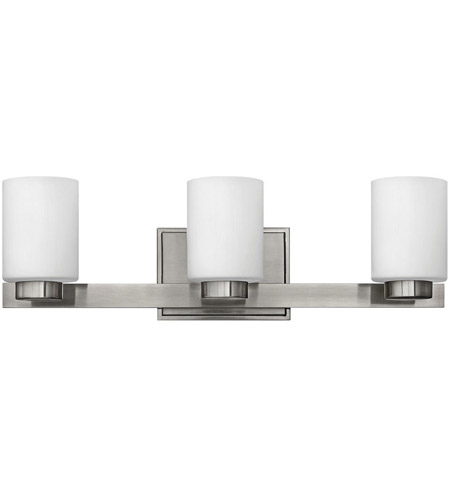 Bathroom Lighting Fixtures Brushed Nickel hinkley 5053bn miley 3 light 22 inch brushed nickel bath light