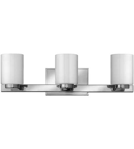 Hinkley 5053CM Miley 3 Light 22 inch Chrome Bath Vanity Wall Light in Inside-Painted White photo