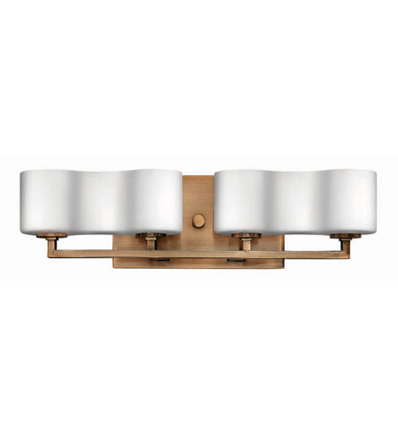 Hinkley lighting a la mode 4 light bath vanity in brushed - Brushed bronze bathroom light fixtures ...