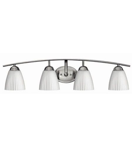 Hinkley Lighting Devon 4 Light Bath Vanity in Brushed Nickel 5074BN