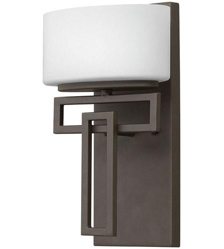 Hinkley 5100kz led lanza led 7 inch buckeye bronze bath for Hinkley bathroom sconces