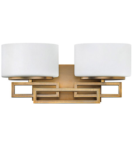 Hinkley lighting lanza 2 light bath vanity in brushed - Brushed bronze bathroom light fixtures ...