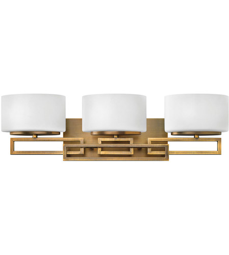 Hinkley 5103br lanza 3 light 25 inch brushed bronze bath for Hinkley bathroom vanity lighting