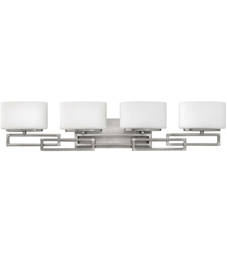 Hinkley Lighting Lanza 4 Light Bath Vanity in Antique Nickel 5104AN