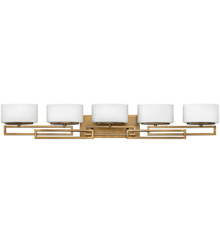 Hinkley 5105BR Lanza 5 Light 43 inch Brushed Bronze Bathroom Vanity Light Wall Light in Incandescent photo