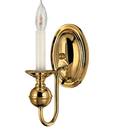Hinkley 5120PB Virginian 1 Light 5 inch Polished Brass Sconce Wall Light photo