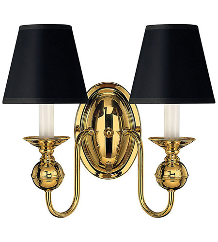 Hinkley 5124PB Virginian 2 Light 11 inch Polished Brass Sconce Wall Light photo