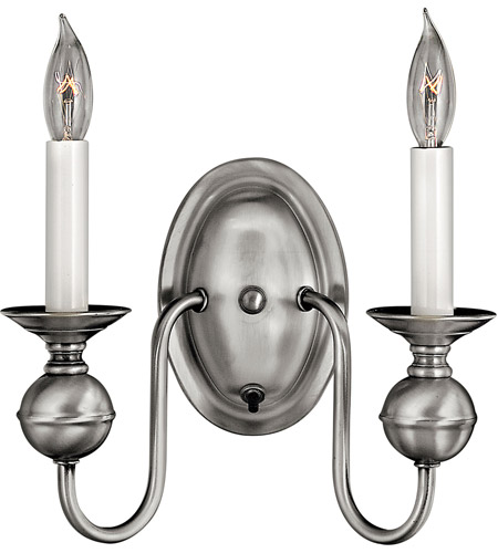 Hinkley Lighting Virginian 2 Light Sconce in Pewter 5124PW