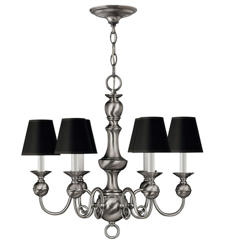 Hinkley Lighting Virginian 6 Light Chandelier in Pewter 5126PW photo