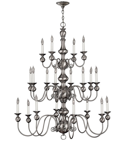 Hinkley Lighting Virginian 20 Light Chandelier in Pewter 5127PW
