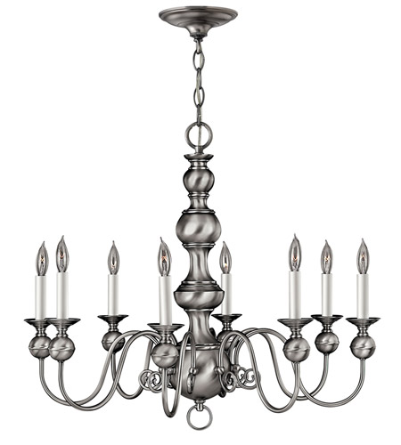 Hinkley Lighting Virginian 8 Light Chandelier in Pewter 5128PW