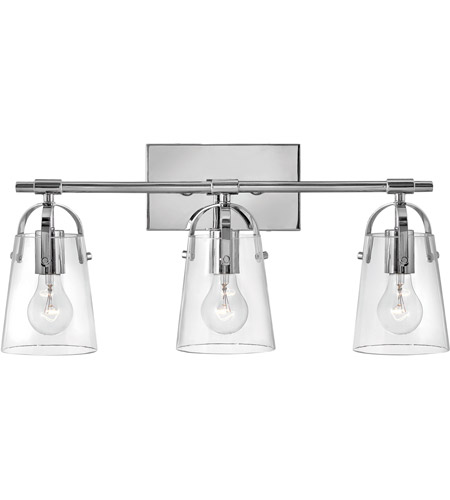 Hinkley Lighting Orb 3 Light Bath Vanity in Chrome 5133CM photo