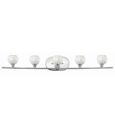 Hinkley Lighting Orb 5 Light Bath Vanity in Chrome 5135CM