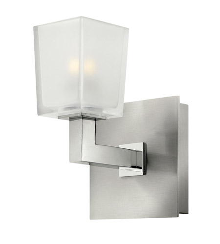 Hinkley 51560BN Zina 1 Light 5 inch Brushed Nickel Bath Wall Light, Ice Glass photo