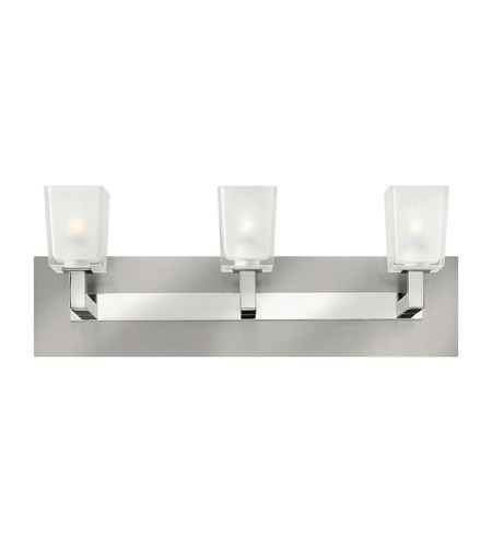 Hinkley 51563BN Zina 3 Light 21 inch Brushed Nickel Bath Wall Light, Ice Glass photo