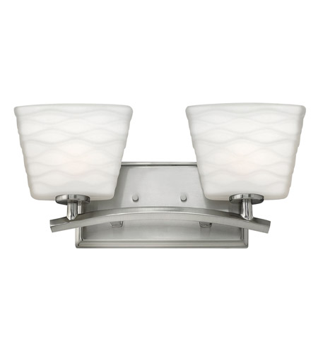 Hinkley BN Tory Light Inch Brushed Nickel Bath Vanity Wall - Bathroom vanity lights facing up or down