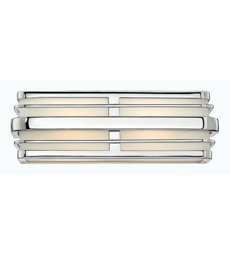 Hinkley 5232CM Winton 2 Light 16 inch Chrome Bath Vanity Wall Light in Etched Opal, Incandescent photo