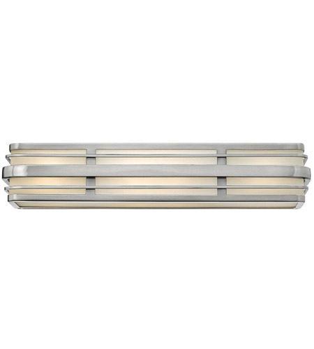 Hinkley 5234BN-LED Winton 4 Light 26 inch Brushed Nickel Bath Vanity Wall Light in LED, Inside White Etched Panels Glass photo