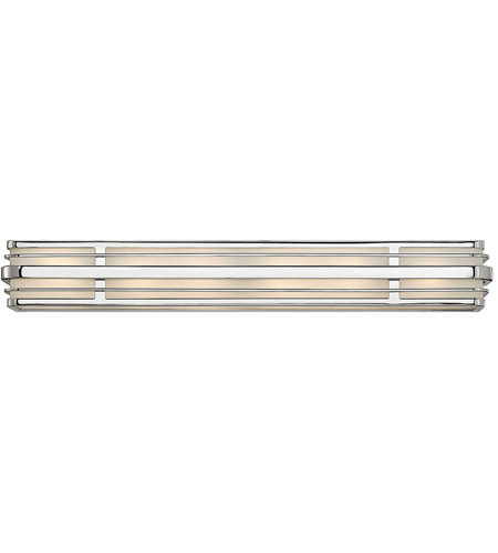 Hinkley 5236CM Winton 6 Light 37 inch Chrome Bath Vanity Wall Light in Etched Opal, Incandescent photo