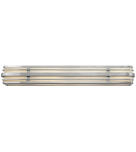Hinkley 5236BN-LED Winton 6 Light 37 inch Brushed Nickel Bath Vanity Wall Light in LED, Inside White Etched Panels Glass photo