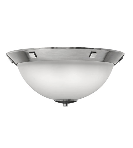 Hinkley Lighting Pinnacle 3 Light Flush Mount in Antique Nickel 5251AN