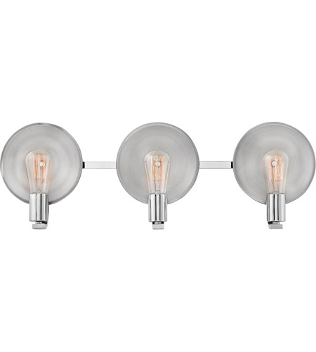Hinkley 5263PN Boyer 3 Light 27 Inch Polished Nickel Bath Light Wall Light