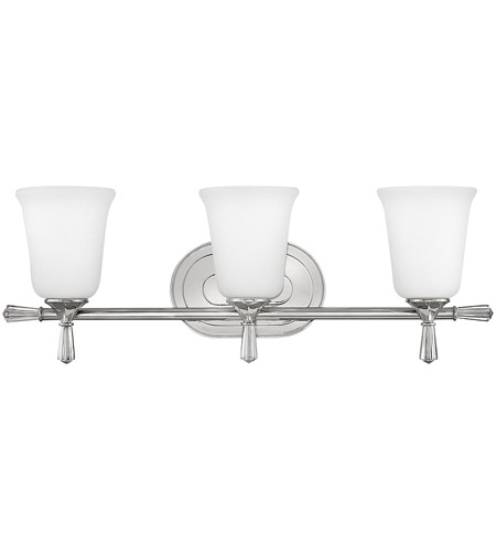 Hinkley 5283PN Blythe 3 Light 25 Inch Polished Nickel Bath Light Wall Light