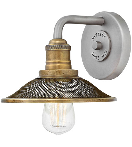 Hinkley 5290AN Rigby 1 Light 8 inch Antique Nickel Bath Sconce Wall Light photo